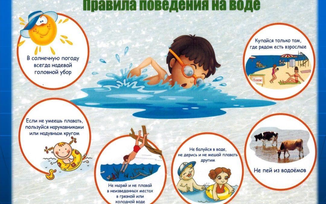 Правила поведения на воде для детей!